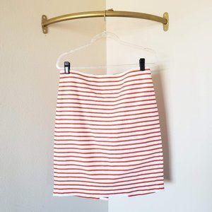 J. Crew No. 2 Pencil Skirt Deck Stripe Orange 8